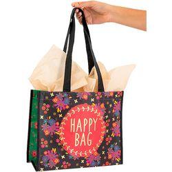 Natural Life Happy Bag Folk Art Floral Gift Bag