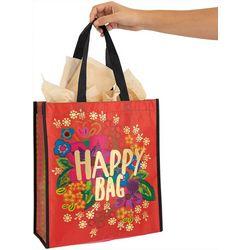 Natural Life Gold Tone Happy Bag Recycled Gift Bag