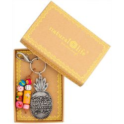 Natural Life Pineapple Santa Fe Keychain