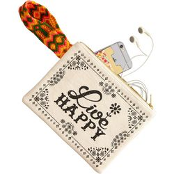 Natural Life Live Happy Wristlet