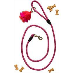 Natural Life Pink Tassel Dog Leash