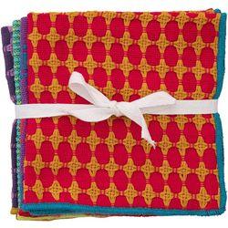 Natural Life 4-pk. Purple Multi Woven Hand Towels