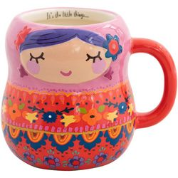 Natural Life Nesting Doll Folk Mug