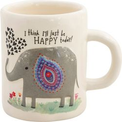 Natural Life Elephant Embossed Mug