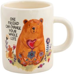 Natural Life Bear Embossed Mug