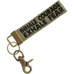 Natural Life Inhale Courage Canvas Keychain