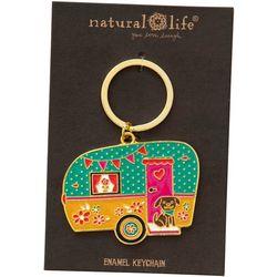 Natural Life Camper Keychain