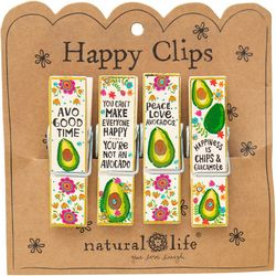 Natural Life Avocado Happy Clip Set