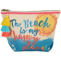 Natural Life Beach Is My Happy Place Cosmetic Bag