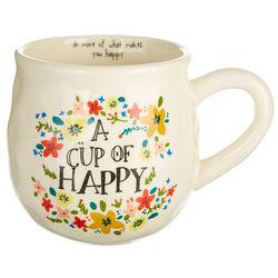 Natural Life Cup Of Happy Mug