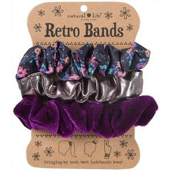 Natural Life Womens 3-pk. Purple Floral Multi Retro Bands