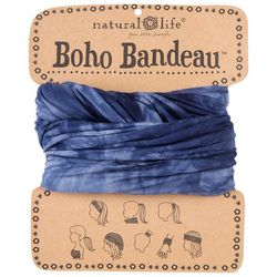 Natural Life Womens Blue Tie Dye Print Boho Bandeau