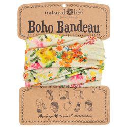 Natural Life Womens Sage Floral Print Boho Bandeau
