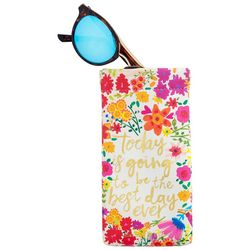 Natural Life Best Day Ever Floral Sunglasses Case