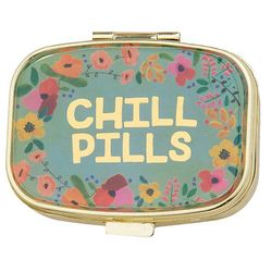 Natural Life Chill Pills Floral Pill Box