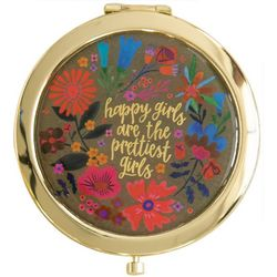 Natural Life Happy Girls Compact Mirror