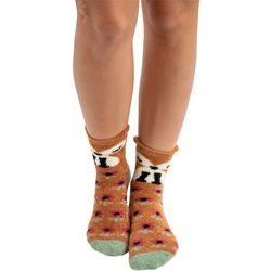Natural Life Womens Fox Cozy Socks