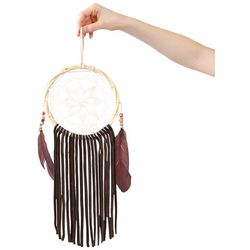 Natural Life Medium Crochet & Leather Dream Catcher