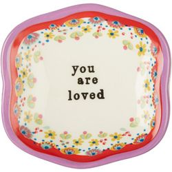 Natural Life You Are Loved Mini Ceramic Dish