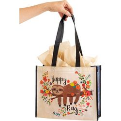 Natural Life L Happy Bag Sloth Recycled Gift Bag