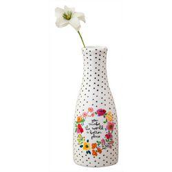 Natural Life Floral Dotted Bud Vase