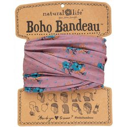 Natural Life Womens Mauve Floral Full Bandeau