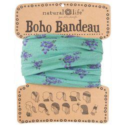 Natural Life Womens Purple Floral Boho Bandeau