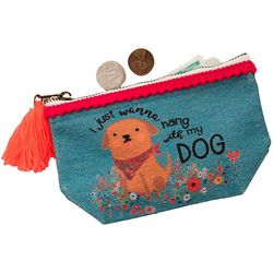 Natural Life Hang With My Dog Zipper Pouch
