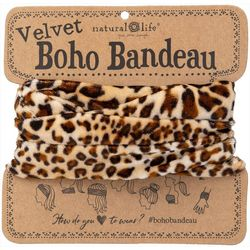 Natural Life Animal Print Velvet Boho Bandeau