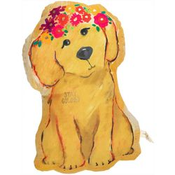 Natural Life Stay Golden Dog Shaped Decorative Pillow