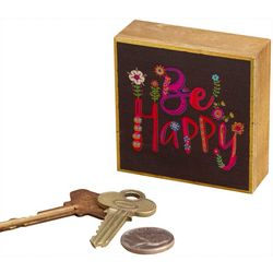 Natural Life Be Happy Tiny Block Keepsake