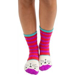 Natural Life Womens Cat Cozy Socks