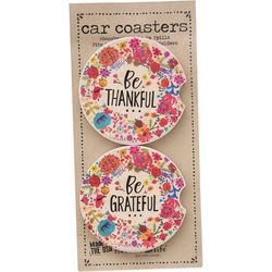 Natural Life 2-pk. Thankful & Grateful Car Coaster Set
