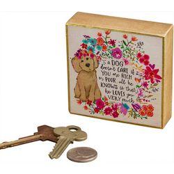 Natural Life Dog Loves You Very Much Tiny Block Keepsake