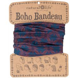 Natural Life Womens Navy Blue Berry Boho Bandeau