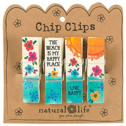 Natural Life Beach Is My Happy Place Chip Clip Set