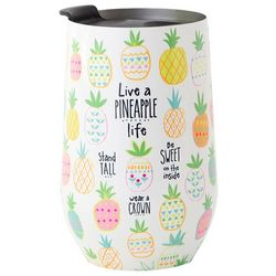 Natural Life Live A Pineapple Life Wine Tumbler