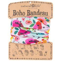 Natural Life Womens Floral Polka Dot Boho Bandeau