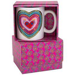 Natural Life Artisan Heart Boxed Ceramic Mug