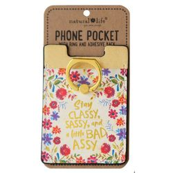 Natural Life Stay Classy Phone Pocket & Ring