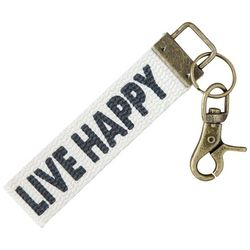 Natural Life Live Happy Key Chain