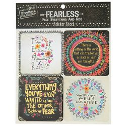 Natural Life Fearless 4-pk. Sticker Sheet