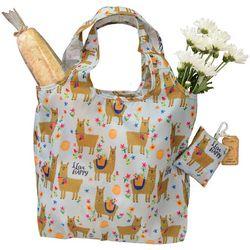 Natural Life Llive Happy Llama Fold-Up Shopping Bag