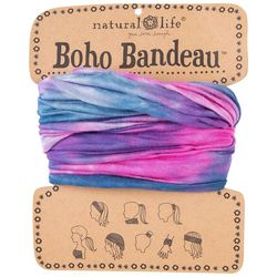 Natural Life Womens Pink Multi Tie Dye Print Boho Bandeau