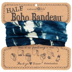 Natural Life Womens Dark Blue Tie Dye Half Boho Bandeau