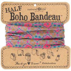 Womens Stamp Print Half Boho Bandeau