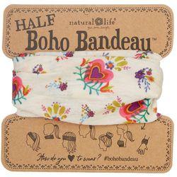 Womens Heart Flower Half Boho Bandeau