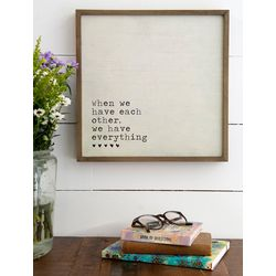 Natural Life Have Each Other Bungalow Wall Art