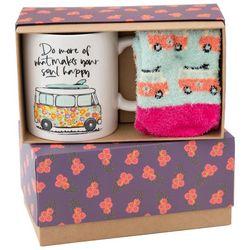 Natural Life Make Your Soul Happy Sock & Mug Set