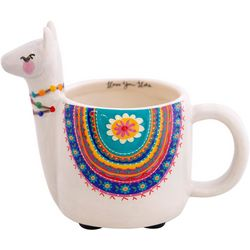 Natural Life Llove You Lots Critter Folk Llama Mug